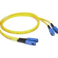 Cable Fibra Óptica Dúplex Monomodo OS2 SC Macho - SC Macho, 9/125, 1 Metro, Amarillo