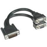 C2G Cable 2x VGA Hembra - LFH59 Macho, 22.8cm, Negro