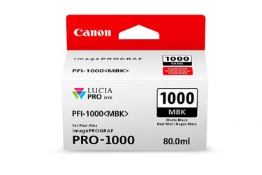 Cartucho Canon PFI-1000 Negro Mate, 80ml