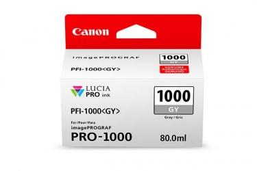 Cartucho Canon PFI-1000 Gris, 80ml