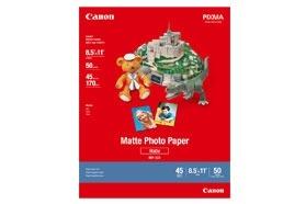 Canon Papel Fotográfico Mate, 8.5'' x 11'', 50 Hojas de Tamaño Carta