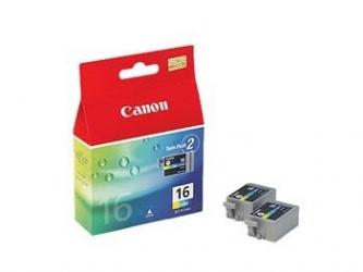 Tanque de Tinta Canon Paquete Doble BCI-16 Tricolor 2.5ml