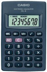 Casio Calculadora HL-4, 8 Dígitos