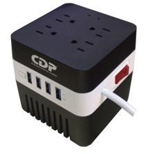 Regulador CDP AVR 604, 100W, 600VA, 4 Contactos