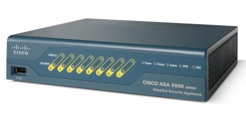 Cisco Router con Firewall ASA 5505 con Software, Alámbrico, 150 Mbit/s, 8x RJ-45, 10 Usuarios