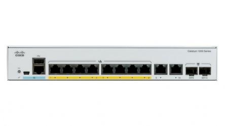 Switch Cisco Gigabit Ethernet Catalyst 1000, 8 Puertos PoE+, 2 Puertos SFP, 20 Gbit/s, 15.360 Entradas - Gestionado