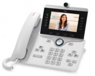 "Cisco Teléfono IP PHONE 8845, Pantalla LCD 5"", Bluetooth, PoE, 1x RJ-9, Blanco"