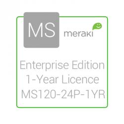 Cisco Meraki Licencia y Soporte Empresarial, 1 Licencia, 1 Año, para MS120-24P