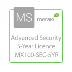Cisco Meraki Licencia de Seguridad Avanzada y Soporte, 1 Licencia, 5 Años, para MX100