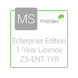 Cisco Meraki Licencia y Soporte Empresarial, 1 Licencia, 1 Año, para Z3