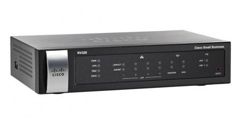 Router Cisco Ethernet RV320, 4x RJ-45, 2x USB