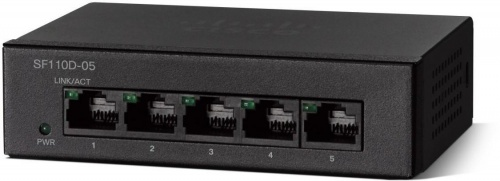 Switch Cisco Fast Ethernet SF110D-05, 5 Puertos 10/100Mbps, 1 Gbit/s - No Administrable