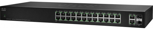 Switch Cisco Fast Ethernet SF112-24, 24 Puertos 10/100Mbps + 2 Puertos SFP, 8.8 Gbit/s - No Administrable