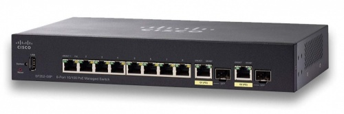 Switch Cisco Fast Ethernet Small Business SF352-08P, 8 Puertos 10/100Mbps + 2 Puertos SFP, 5.6 Gbit/s, 16.384 Entradas - Gestionado