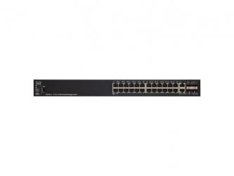 Switch Cisco Fast Ethernet SF550X-24P-K9, 24 Puertos 10/100Mbps + 2 Puertos SFP+, 84.8 Gbit/s, 16.000 Entradas - Gestionado