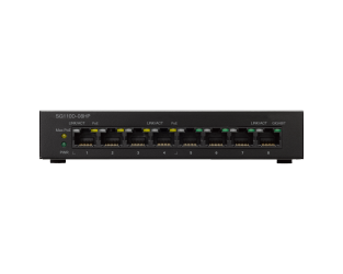 Switch Cisco Gigabit Ethernet SG110D-08HP PoE, 8 Puertos 10/100/1000Mbps, 16 Gbit/s, 4000 Entradas - No Administrable