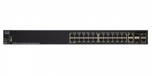 Switch Cisco Gigabit Ethernet SG350X-24, 24 Puertos 10/100/1000Mbps + 2 Puertos SFP+, 128 Gbit/s, 16.000 Entradas - Gestionado