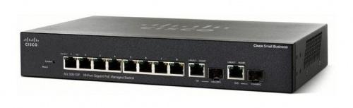 Switch Cisco Gigabit Ethernet SG355-10P, 8 Puertos 10/100/1000Mbps + 2 Puertos SFP, 20 Gbit/s, 16.384 Entradas - Gestionado
