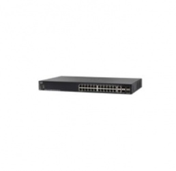 Switch Cisco Gigabit Ethernet SG550X-24MP-K9, 24 Puertos 10/100/1000Mbps + 4 Puertos SFP+, 128 Gbit/s, 16.000 Entradas - Gestionado