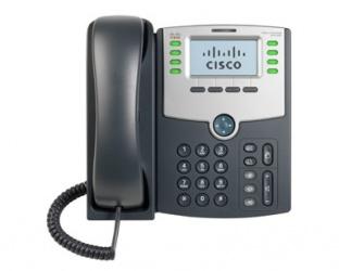 Cisco Teléfono IP de 8 Líneas con Pantalla SPA508G, PoE y PC, 2x RJ-45, Negro