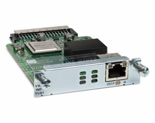 Cisco Tarjeta de Interfaz WAN/de Voz Troncales Multiflex T1/E1 de 1 Puerto de Tercera Generación