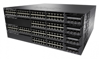Switch Cisco Gigabit Ethernet Catalyst 3650-48TS-L, 48 Puertos 10/100/1000 Mbps + 2 Puertos SFP, 176 Gbit/s, 32000 Entradas - Gestionado