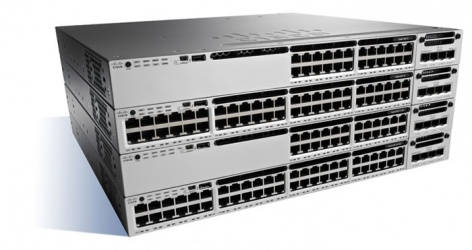 Switch Cisco Gigabit Ethernet Catalyst 3850-48P Base IP, 48 Puertos 10/100/1000Mbps, 176 Gbit/s, 32.000 Entradas - Gestionado