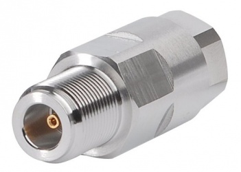CommScope Conector Coaxial Clase N Hembra, Plata