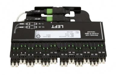 CommScope Panel de 24 Adaptadores de Fibra Óptica OS2 LC/SC, Negro