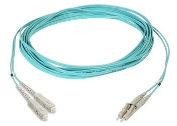 Commscope Cable Fibra Óptica 2x LC Macho - 2x SC Macho, 3 Metros, Aqua