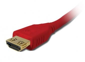 Comprehensive Cable Delgado HDMI con ProGrip de Alta Velocidad con Ethernet 4K HDMI Macho - HDMI Macho, 3.6 Metros, Rojo