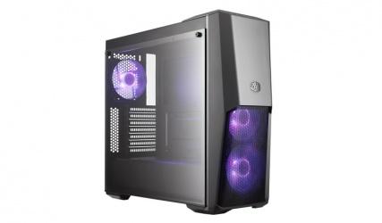 Gabinete Cooler Master MasterBox MB500 con Ventana RGB, Midi-Tower, ATX/Micro-ATX/Mini-ITX, USB 3.0, sin Fuente, Negro