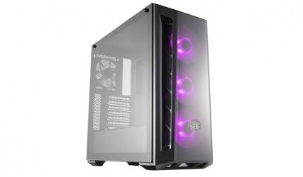 Gabinete Cooler Master MasterBox MB520 con Ventana RGB, Midi-Tower, ATX/Micro-ATX/Mini-ITX, USB 3.1, sin Fuente, Negro