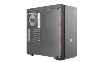 Gabinete Cooler Master Masterbox MB600L con Ventana, Midi-Tower, ATX/Micro-ATX/Mini-ITX, USB 3.0, sin Fuente, Negro/Rojo