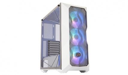 Gabinete Cooler Master Box TD500 Mesh con Ventana Midi Tower, ATX/EATX/micro ATX/Mini-ITX/SSI CEB, USB 3.0, sin Fuente, Blanco