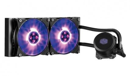 Cooler Master MasterLiquid ML240L RGB Enfriamiento Liquido para CPU, 2x 120mm, 650-2000RPM