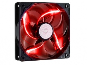 Ventilador Cooler Master SickleFlow 120 LED Rojo, 120mm, 2000RPM, Negro/Rojo