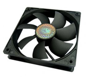 Ventilador Cooler Master Silent Fan 120 SI2, 120mm, 1200RPM, Negro, 4 Piezas