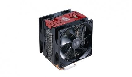 Disipador CPU Cooler Master Hyper 212, 120mm, 600-1200RPM, Negro/Rojo