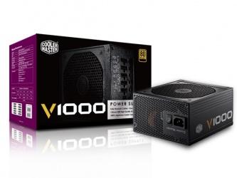 Fuente de Poder Cooler Master V1000 80 PLUS Gold, 20+4 pin ATX, 135mm, 1000W