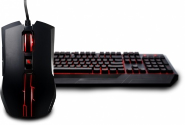Kit Gamer de Teclado y Mouse Cooler Master Devastator II Rojo, Alámbrico, USB, Negro