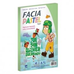 Copamex Papel Facia Pastel 75g/m², 100 Hojas de Tamaño Carta, Verde