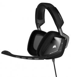 Corsair Audífonos Gamer VOID USB Dolby 7.1 RGB, Alámbrico, 1.8 Metros, Negro/Blanco