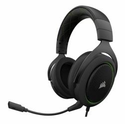 Corsair Audífonos Gamer HS50, Alámbrico, 3.5mm, Negro/Verde