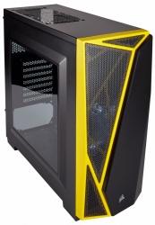 Gabinete Corsair Carbide Spec-04 con Ventana, Midi-Tower, ATX/Micro-ATX/Mini-ITX, USB 2.0/3.0, sin Fuente, Negro/Amarillo