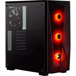 Gabinete Corsair SPEC-DELTA RGB con Ventana, Midi-Tower, ATX/Micro-ATX/Mini-ITX, USB 3.0, sin Fuente, Negro