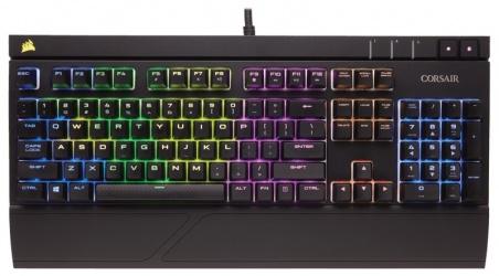 Teclado Gamer Corsair STRAFE RGB, Teclado Mecánico, Cherry MX Red, Alámbrico, Negro (Español)