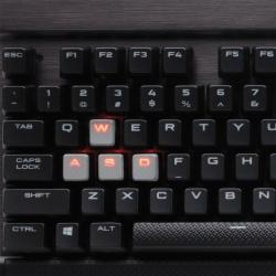 Teclado Gamer Corsair K70 LED Red, Teclado Mecánico, Cherry MX Red, Alámbrico, Negro