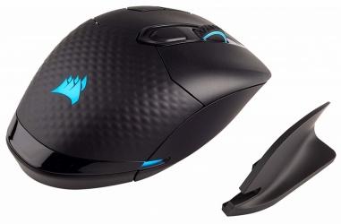 Mouse Gamer Corsair Óptico Dark Core RGB, Inalámbrico, Bluetooth, 16.000DPI, Negro