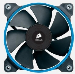Ventilador Corsair SP120, 120mm, 2350RPM, Negro/Azul - 2 Piezas